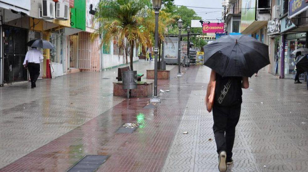 Lluvias solamente por la mañana pero con un abrupto descenso de la temperatura