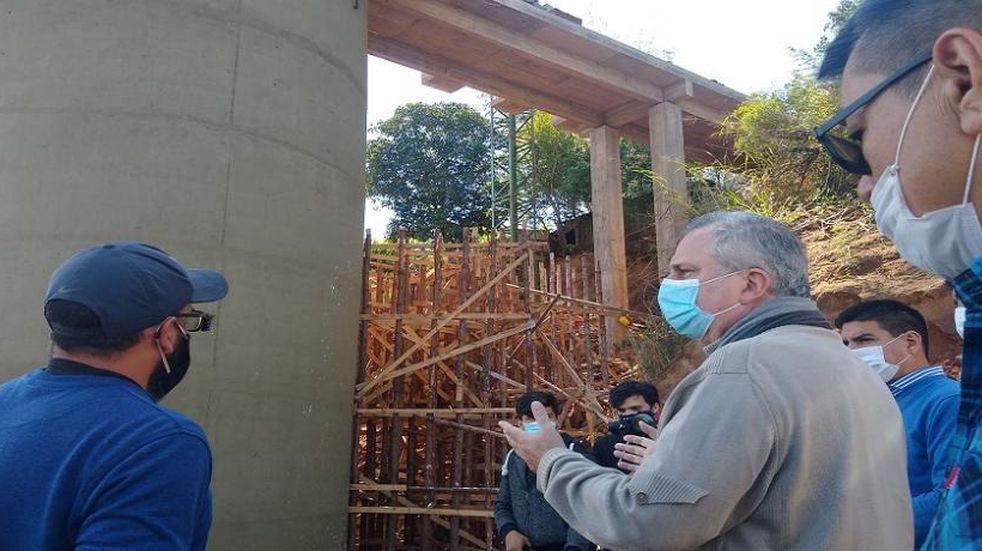 El diputado provincial Hugo Passalacqua visitó la obra de la toma de agua en Paticuá