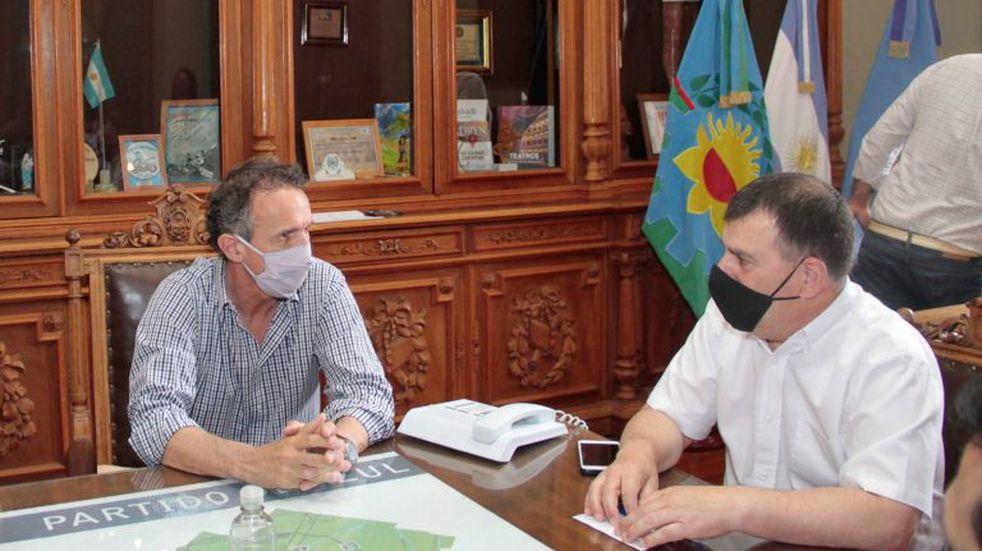 """Katopodis: """"Estamos trabajando con el municipio para que estas obras ya estén en marcha"""""""