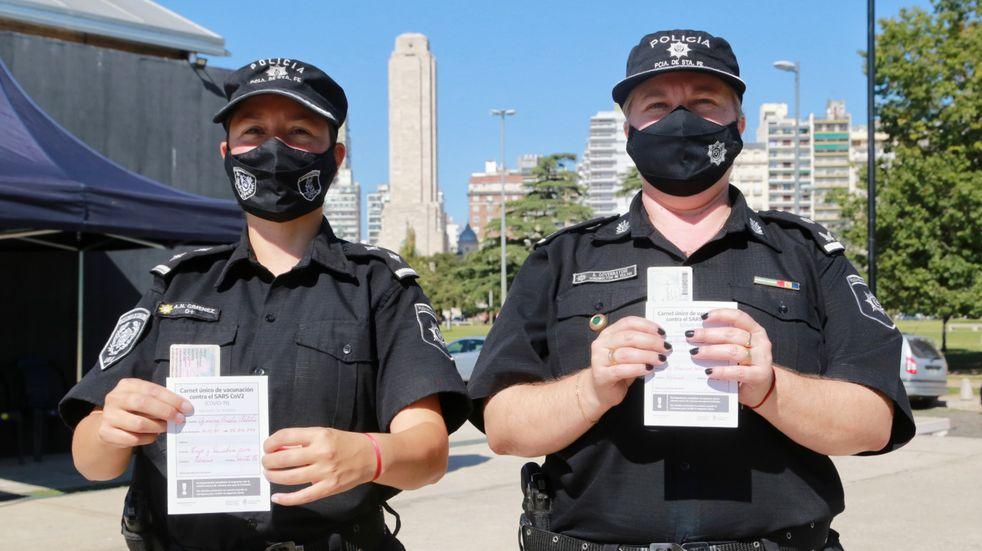 Comenzó la vacunación del personal policial operativo