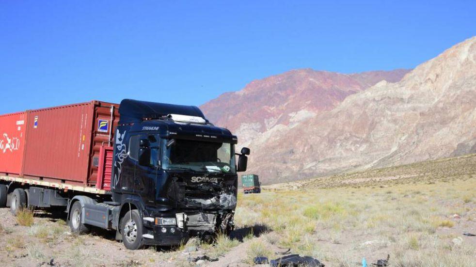 Un camión volcó cerca de Uspallata sin obstaculizar el tránsito