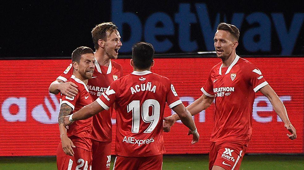 "Sevilla venció 4-3 a Celta de Vigo con un gol importante del ""Papu"" Gómez"