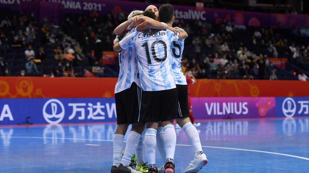 Nuevo triunfo de Argentina en el Mundial de futsal. (Twitter: @Argentina)