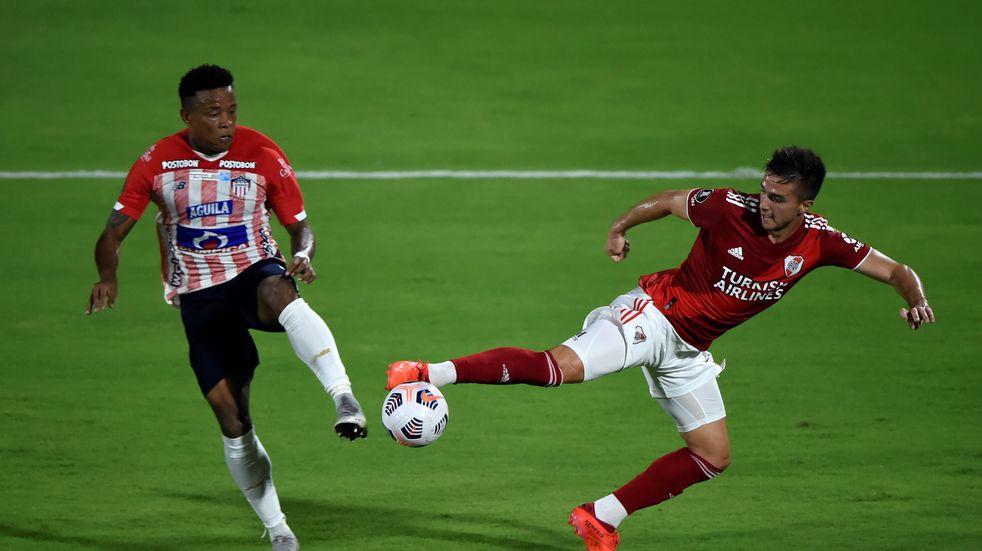 Copa Libertadores: River lo empató sobre el final y rescató un punto ante Junior