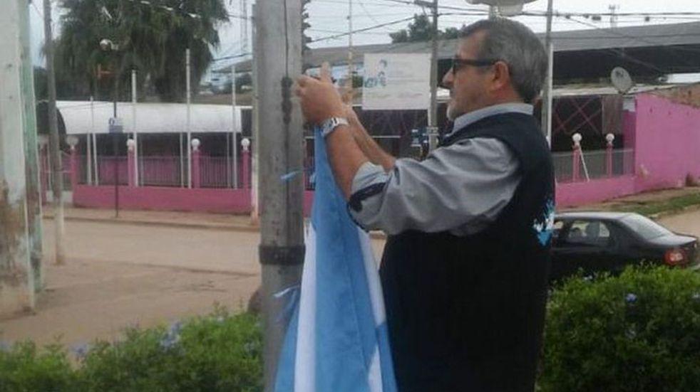 Un excombatiente hizo su propio homenaje a Malvinas en Salta