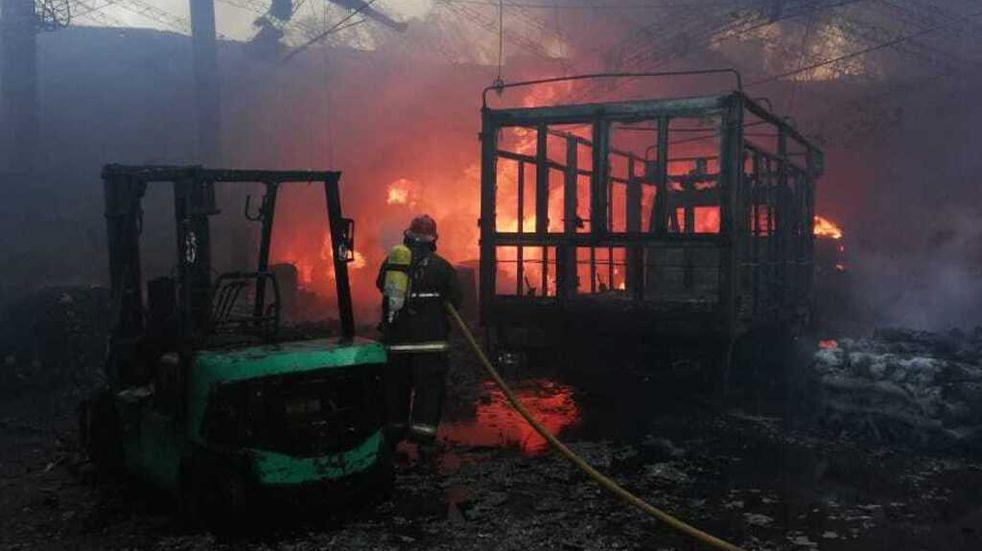 En un incendio murieron dos niños calcinados
