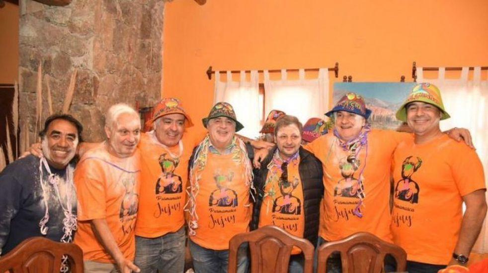 Gustavo Valdés estuvo presente en los tradicionales carnavales de Purmamarca
