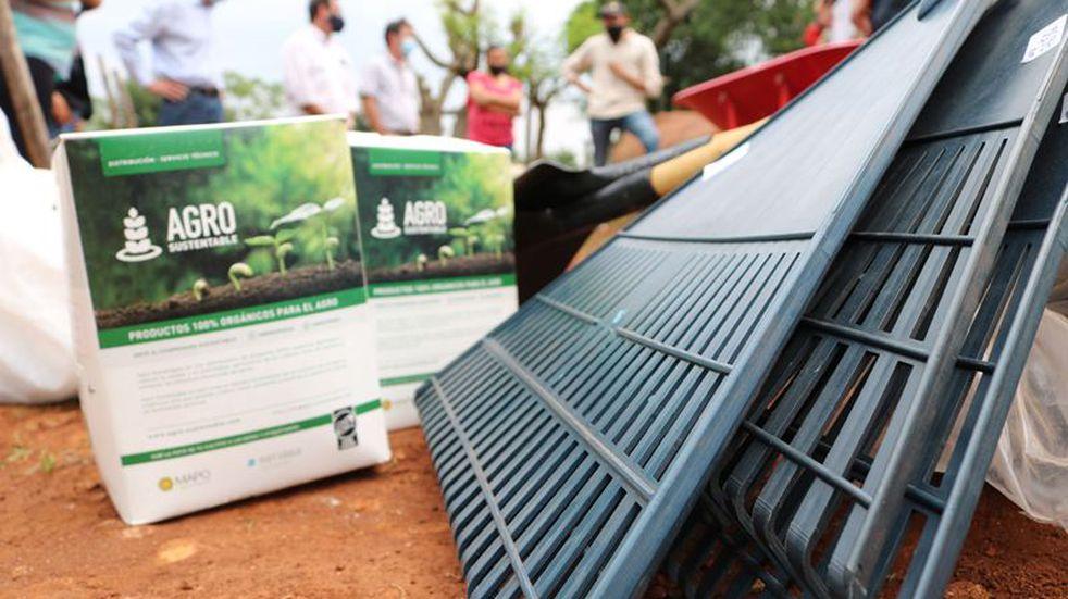 Oberá: hicieron entrega de maquinarias e insumos a huertas comunitarias