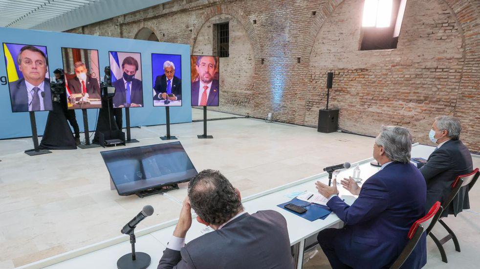 El presidente Alberto Fernández encabezó la cumbre del Mercosur, en la que la presidencia pro témpore pasa a manos de Brasil.