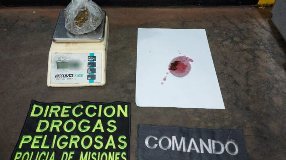 Un vendedor de droga fue detenido con droga encima en Posadas