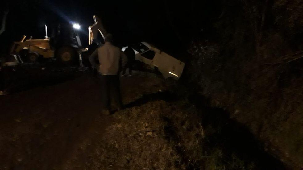 Pérez: Volcó un vehículo en calle Rio Negro