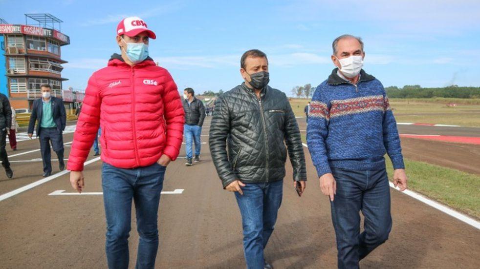 El intendente Stelatto recorrió las obras del Autódromo Rosamonte