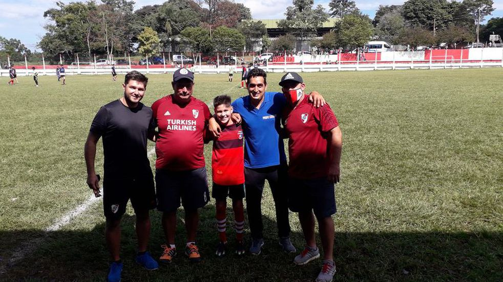 Frank Alvarenga, un iguazuense de 10 años, fue seleccionado por River Plate