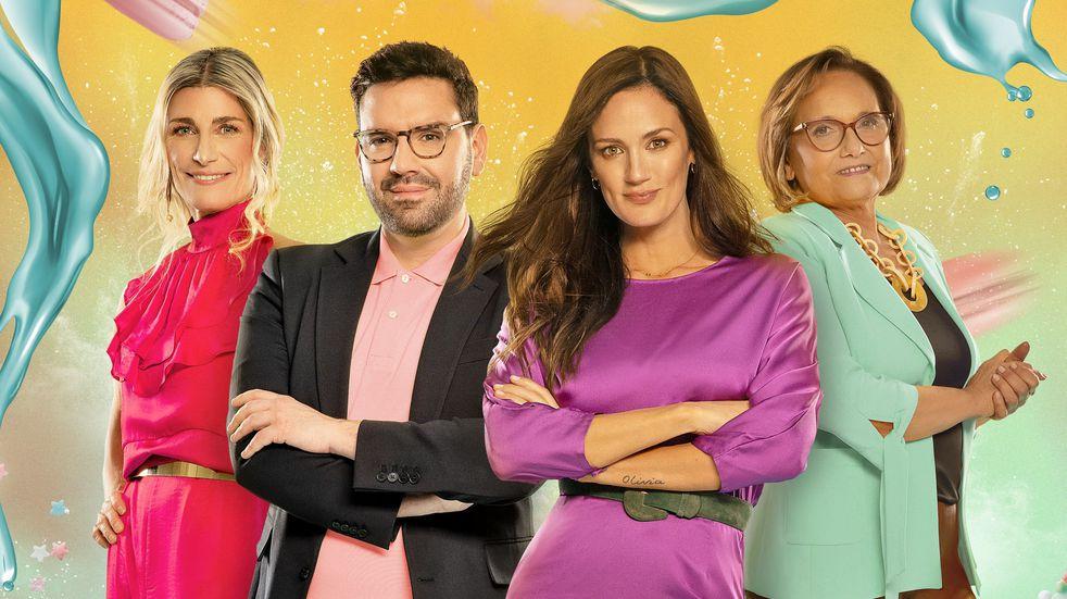 "La plana mayor de ""Bake Off Argentina, El Gran Pastelero"": Pamela Villar, Damián Betular, Paula Chaves y Dolli Irigoyen. (Telefe)"