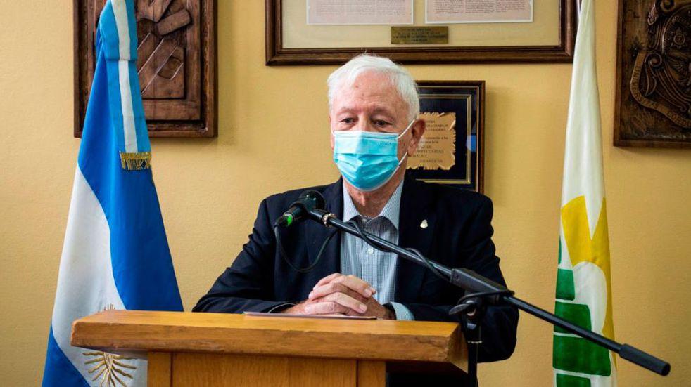 Rector. Hugo Juri de la UNC. (UNC)