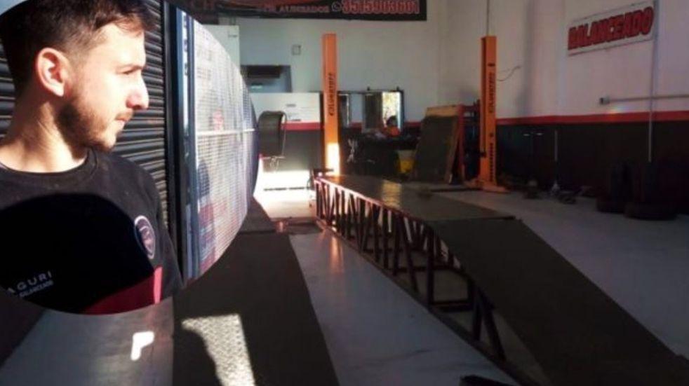 Inseguridad en Córdoba: desvalijaron su taller y quedó sin nada