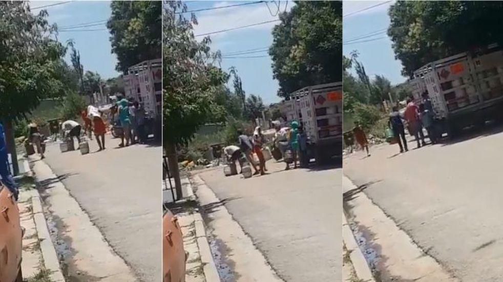 Saqueo a un camión de garrafas en Hipólito Irigoyen: ya son 12 los detenidos