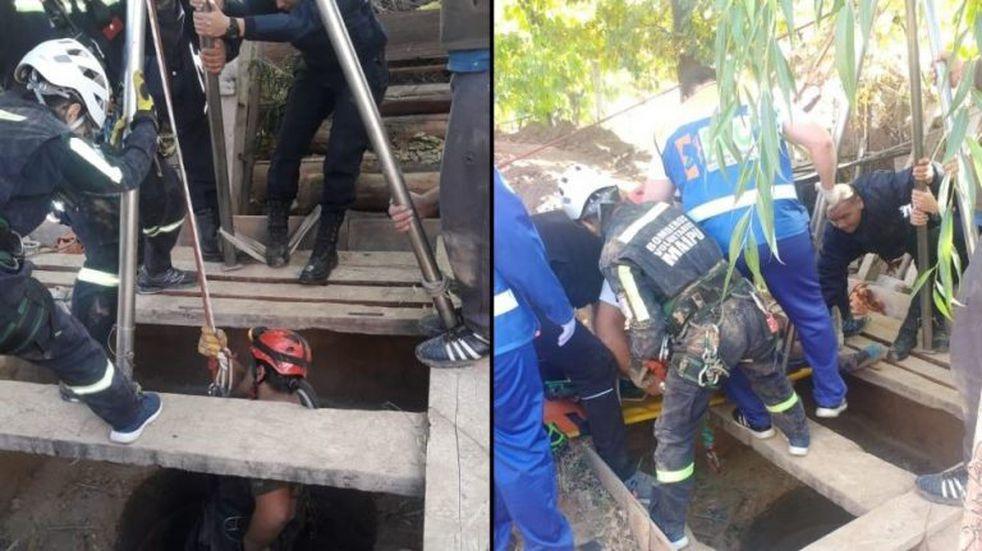Un hombre cayó a un pozo séptico de 15 metros de profundidad en Luján