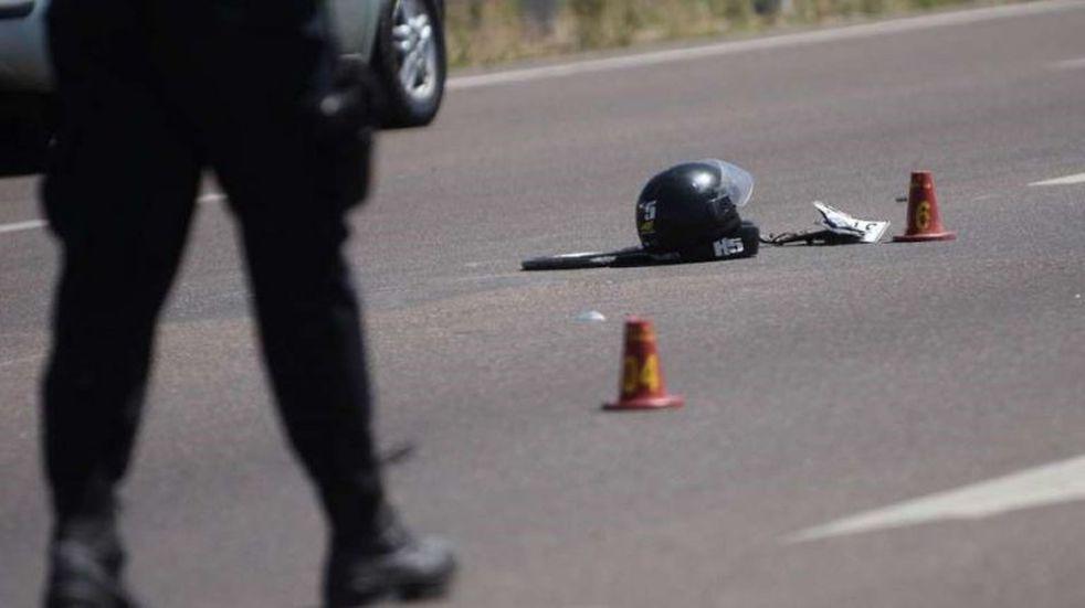El choque entre las motos ocurrió el lunes por la siesta. Imagen ilustrativa.