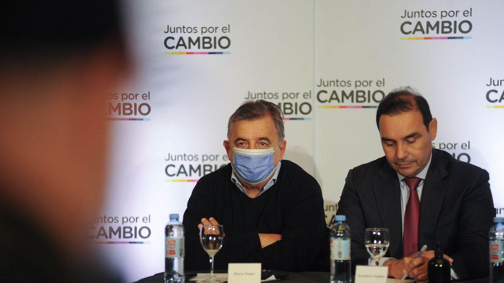 Mario Negri en la reunión de Juntos por el Cambio  Foto Federico Lopez Claro