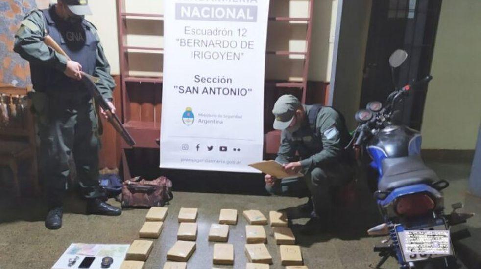 Incautaron más de 27 kilos de marihuana en San Antonio