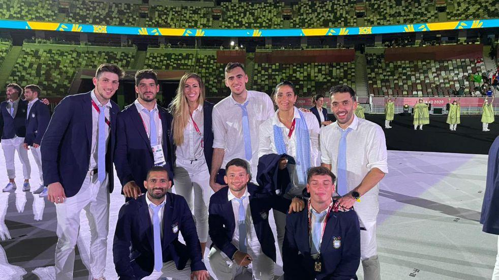 Juegos Olímpicos: los representantes cordobeses se mostraron felices en la apertura