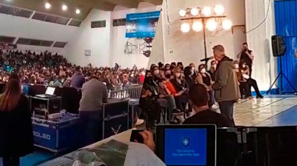 Córdoba: denuncian que los obligan a ir a actos del intendente Martín Llaryora, para cobrar subsidios