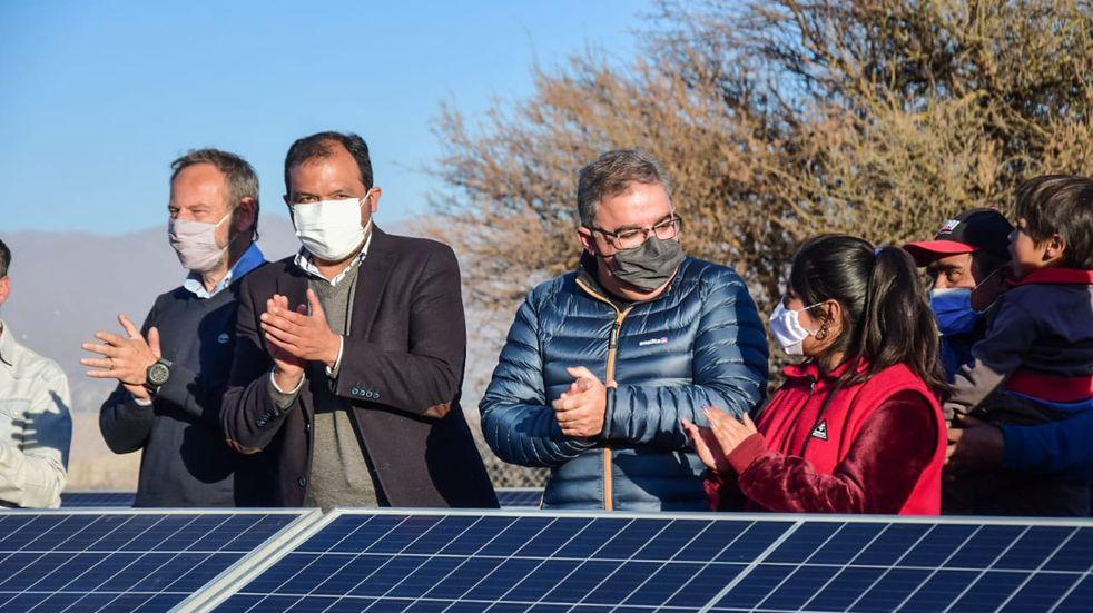 Inauguraron el primer pozo de riego con energía solar en Santa María