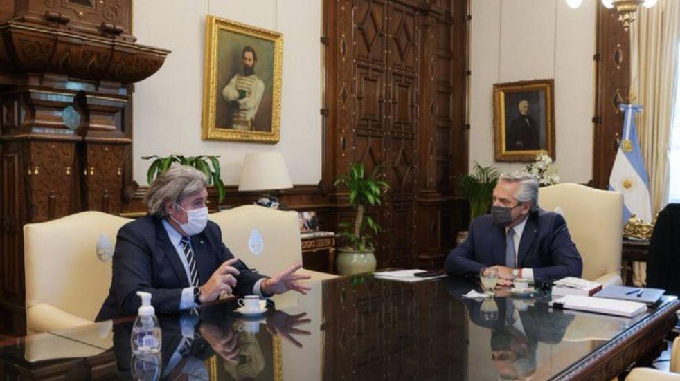 Elecciones en Mendoza: para sellar su coalición con el Frente de Todos, Ramón se encontró con el presidente en la Casa Rosada