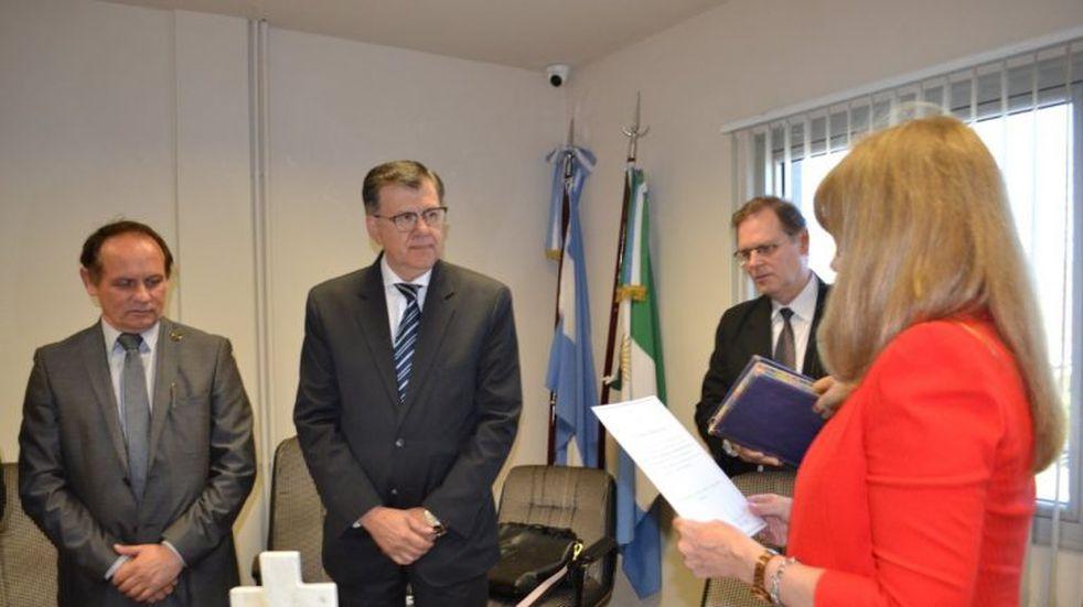 Juró el ministro de gobierno, Quirós, ante el Consejo de la Magistratura
