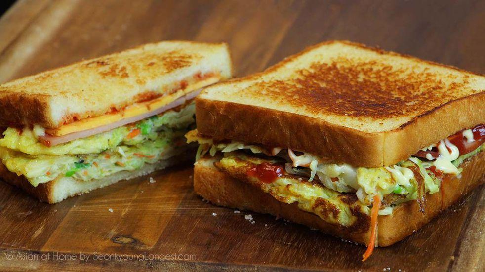 Sandwich estilo coreano: una receta deliciosa que es viral en las redes