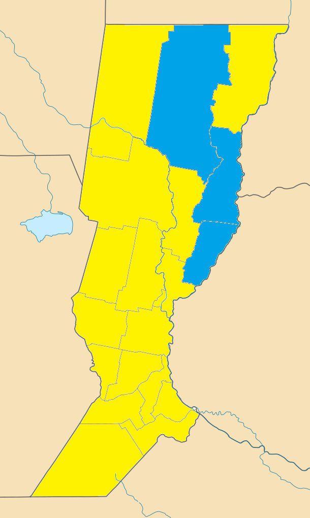 Mapa de diputados de la provincia de Santa Fe tras las PASO 2021.