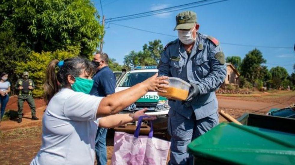Gendarmería quedó a cargo de una cocina centralizada de Eldorado