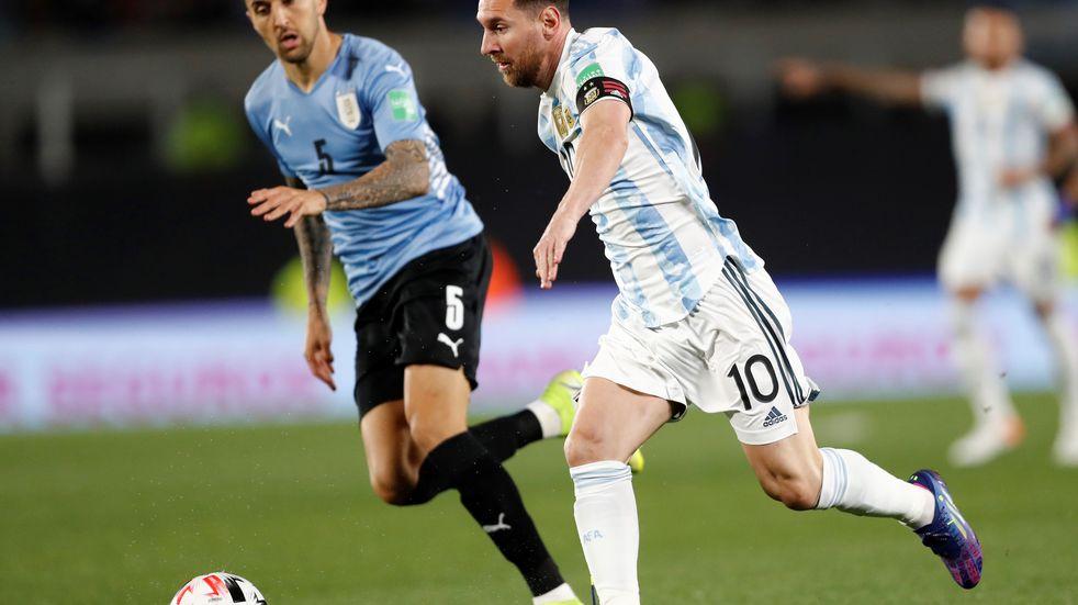 Lionel Messi tuvo un buen partido frente a Uruguay por las Eliminatorias Sudamericanas.