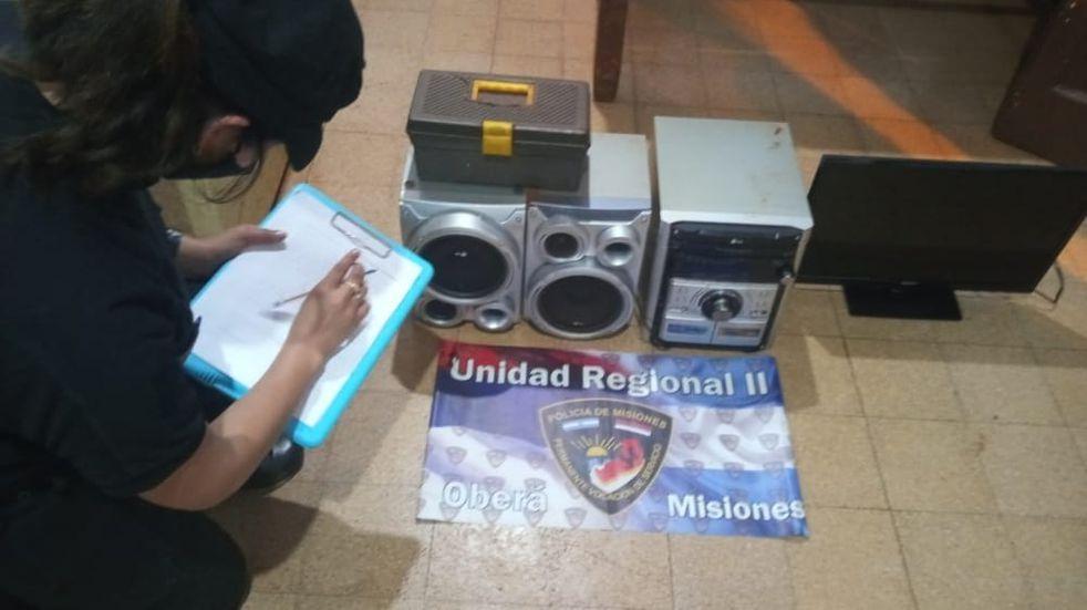 Efectivos policiales recuperaron elementos robados en Campo Viera.