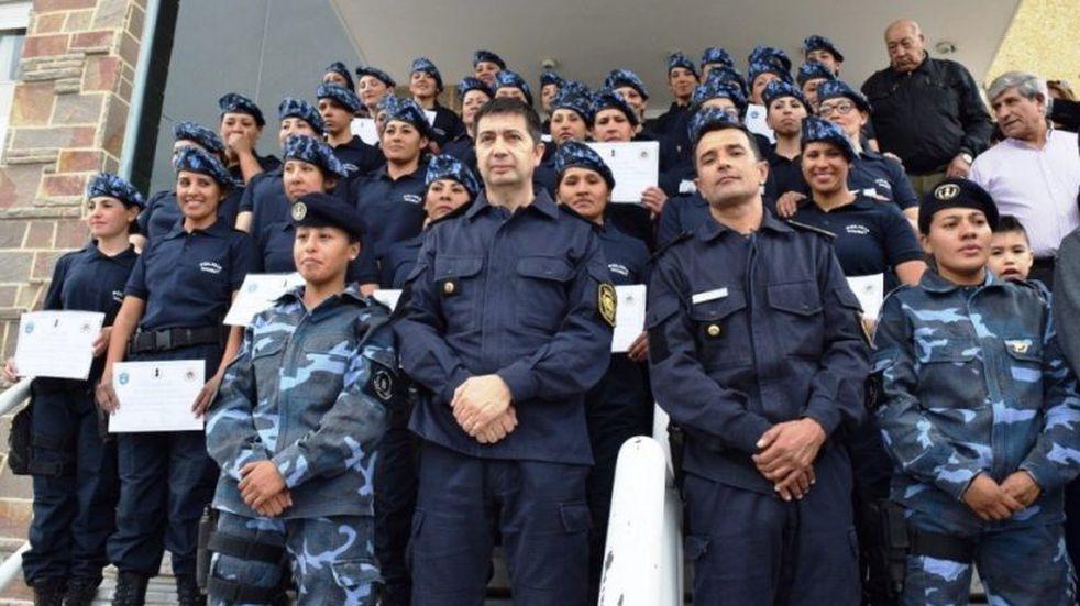 La Policía del Chubut ya cuenta con su Cuerpo de Infantería Femenina