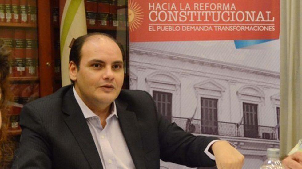 candidato a intendente de la Capital por el Frente de Todos, Gustavo Saadi