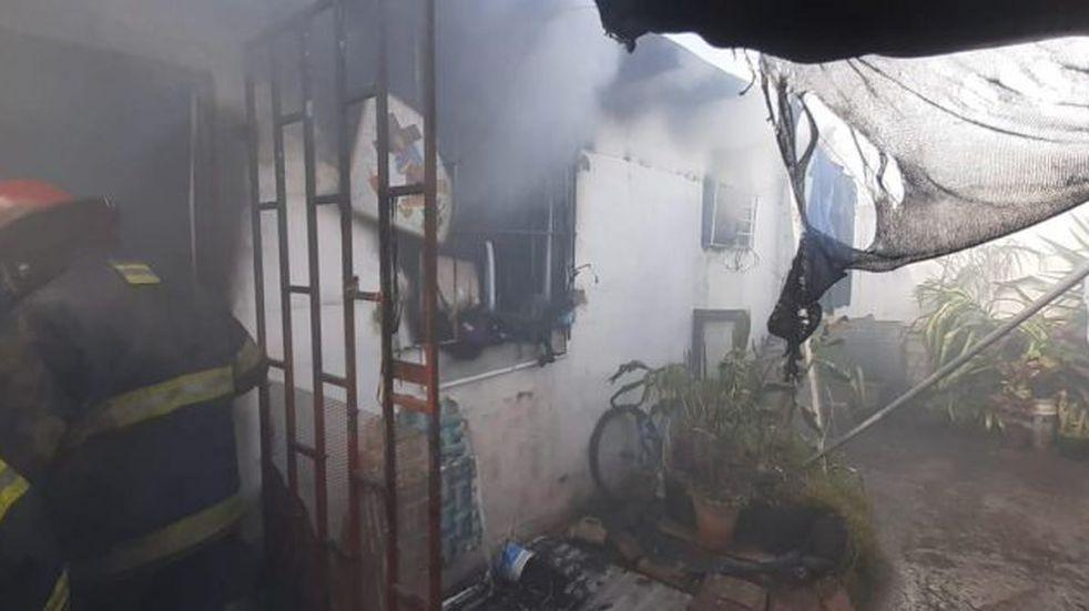 San Francisco: se incendió una casa en barrio Parque