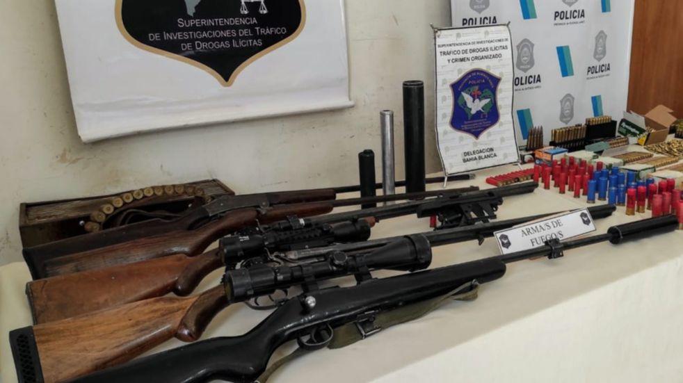 Allanaban una casa en Punta Alta por droga y hallaron armas