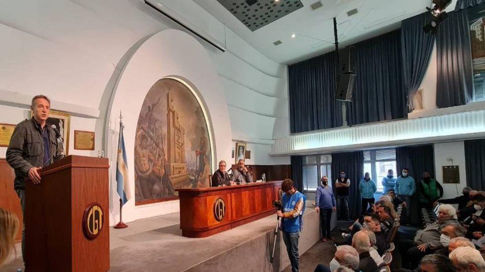 El Comité Central Confederal se desarrolló este miércoles en el Salón Felipe Vallese.