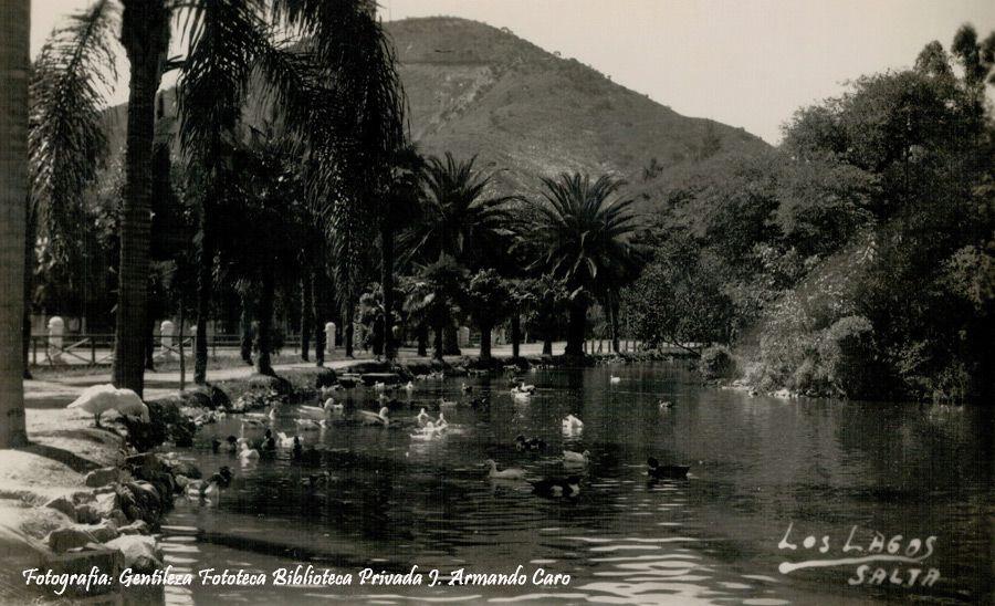 El lago del Parque San Martín.