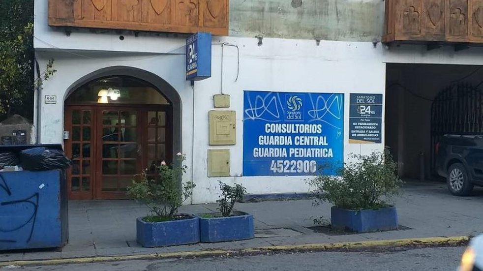Paro en el Sanatorio del Sol de Bariloche
