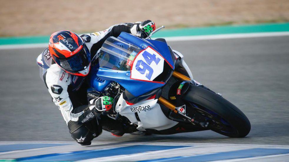 El piloto de El Tío Andrés González corrió la cuarta fecha del campeonato español de Superbike