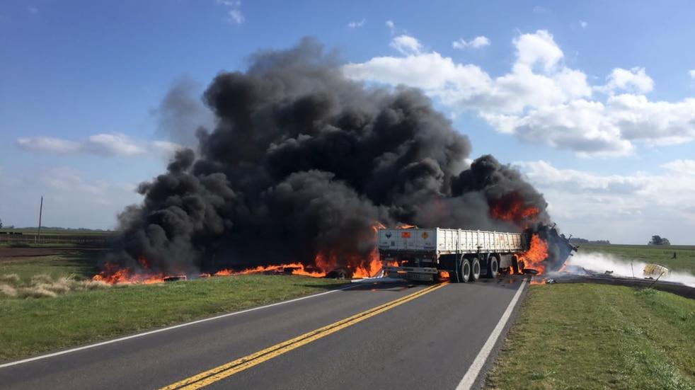 Trágico accidente en la Ruta 205