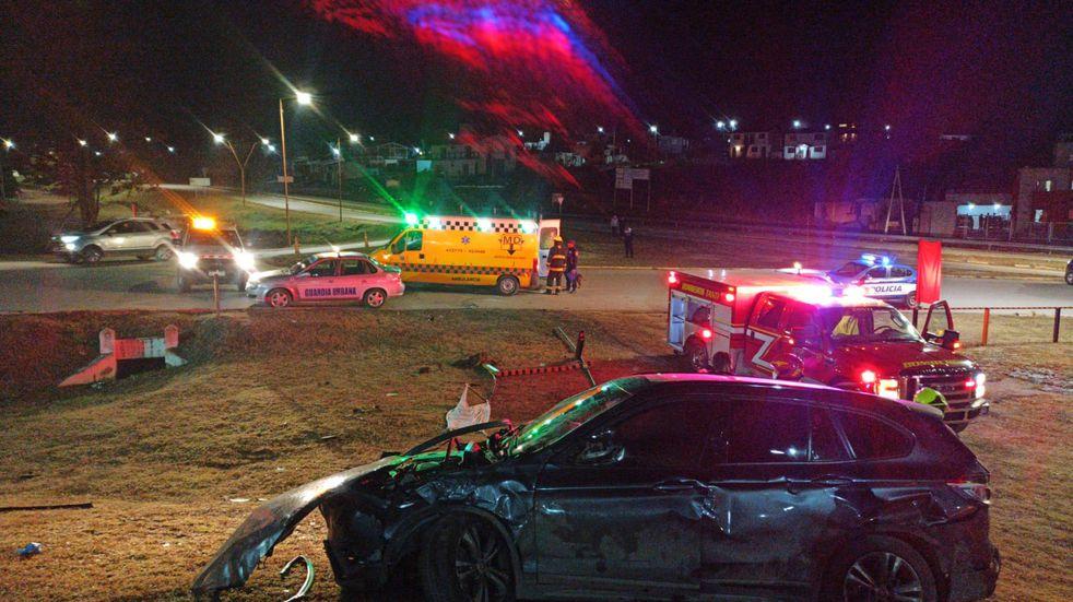 Fuerte accidente en el nudo vial Empalme Tanti: el conductor fue trasladado al Hospital Funes