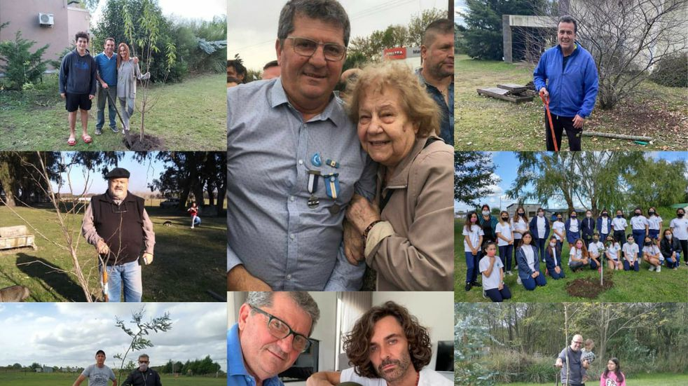 La historia del excombatiente que homenajea a los caídos en Malvinas plantando árboles