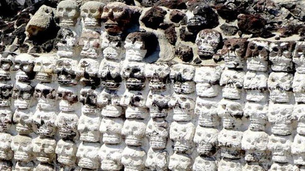 Ciudad de México: encontraron 119 calaveras en una torre de cráneos del período azteca
