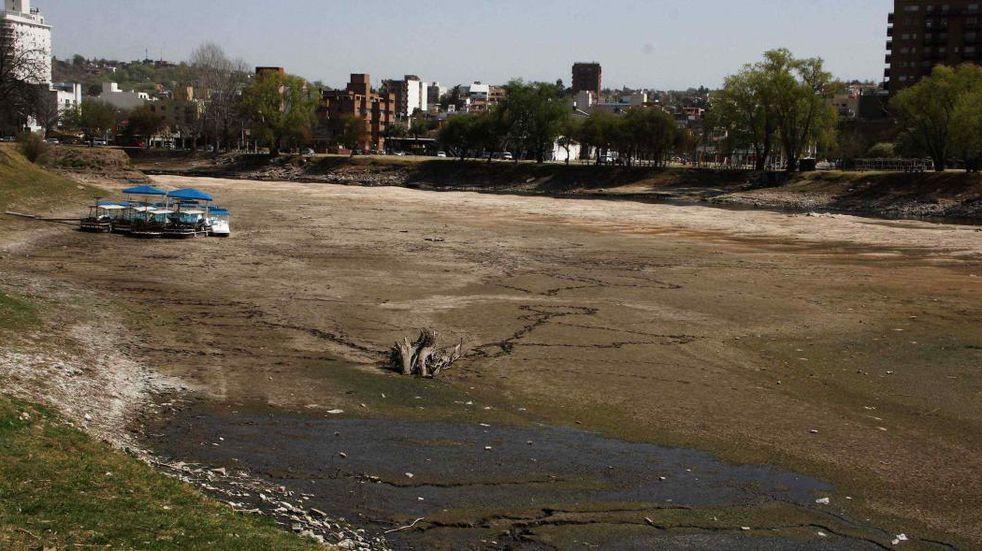 Carlos Paz. Así está el cauce del río San Antonio (La Voz).