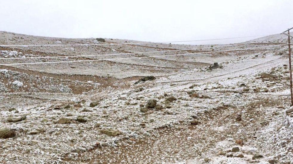 Vallecitos se vistió de blanco, pero no es nieve