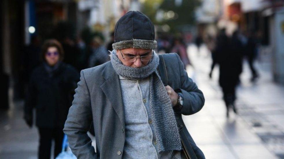 El frío volvió con todo a Rosario